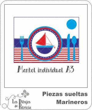 Mantel Individual de Marineros - Método Montessori | Los Dibujos de Patricia
