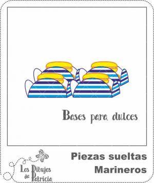 Bases para Dulces de Marineros - Bandeja | Los Dibujos de Patricia