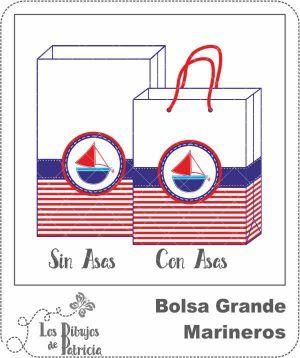 Bolsa Grande de Marineros - Para Regalar | Los Dibujos de Patricia