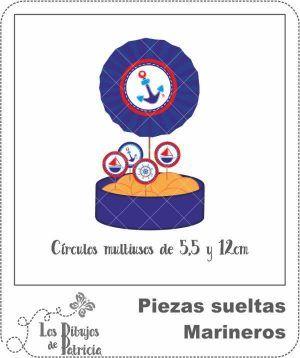 Círculos Multiusos de Marineros - Decoraciones Bonitas | Los Dibujos de Patricia