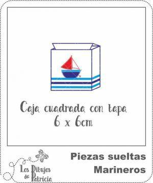 Caja cuadrada con Tapa de Marineros - Muy útil | Los Dibujos de Patricia