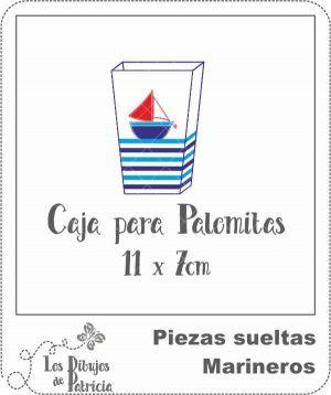 Caja para Palomitas de Marineros - Para Cotufas | Los Dibujos de Patricia