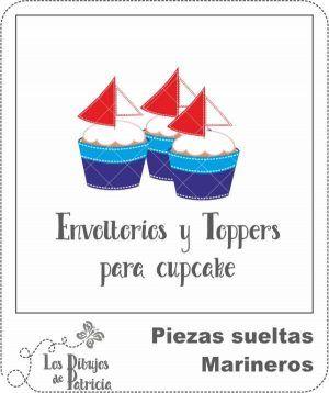 Envoltorios y Toppers de Marineros - Cupcakes decorados | Los Dibujos de Patricia