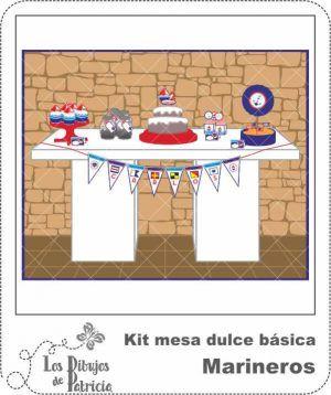 Kit mesa dulce básica de Marineros - Imprimibles | Los Dibujos de Patricia