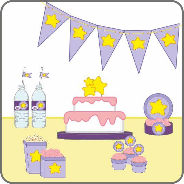 Papelería para decorar fiestas - Imprimibles | Los Dibujos de Patricia
